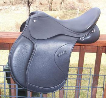 2013 Pegasus calfskin covered endurance saddle side view